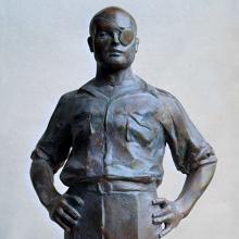 Leonid Sokhranski, Mosche Dayan, Installation, 2002